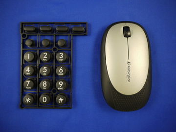 Overmold Keyboard  / PC wireless Computer Mouse in overmolding plastic