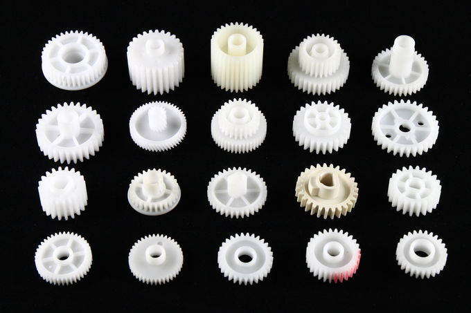 Different size Gears custom molded plastic parts HASCO Standard